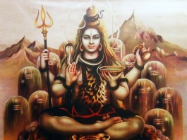 Lord Shiva Old Calendar Painting