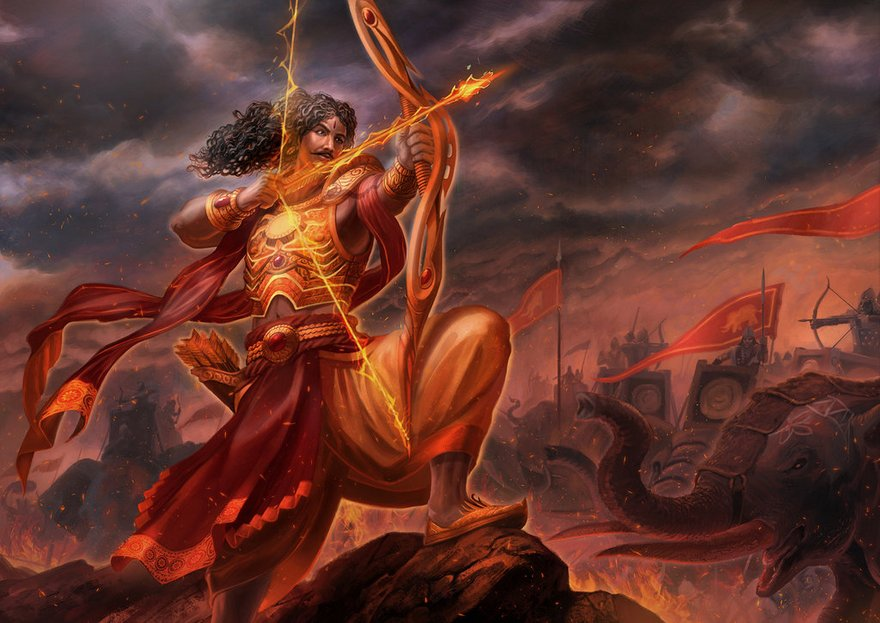 karna 03 - Top 20 Amazing Modern Weapons used by Hindu Gods