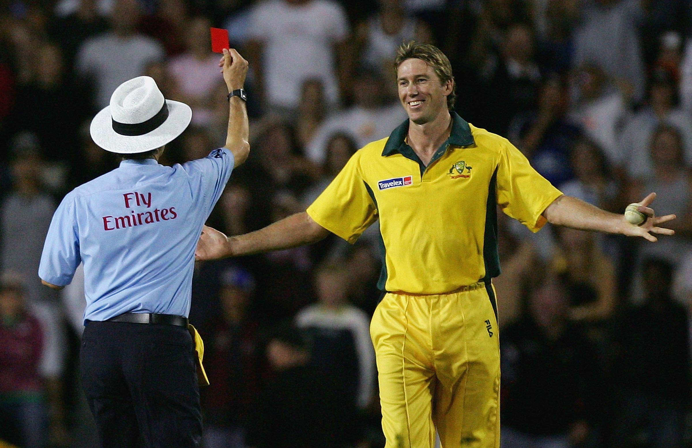 mcgrath Red card - What are the new umpiring signals to send off cricketers?