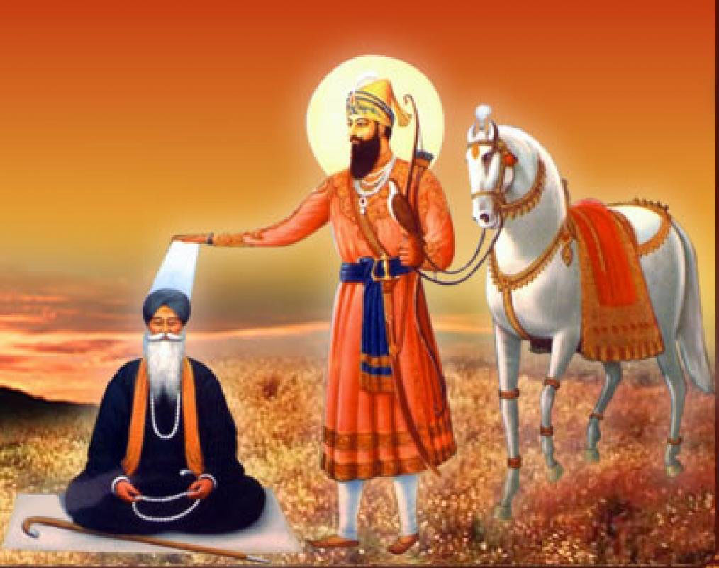 Sri Guru Gobind ji giving blessings
