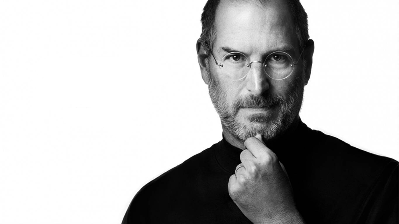 Widescreen image of Steve Jobs for desktop